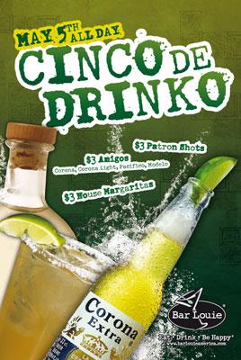 Bar Louie Cinco de Drinko