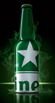 Heineken STR blacklight bottle