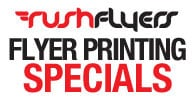 Rush Flyers printing specials
