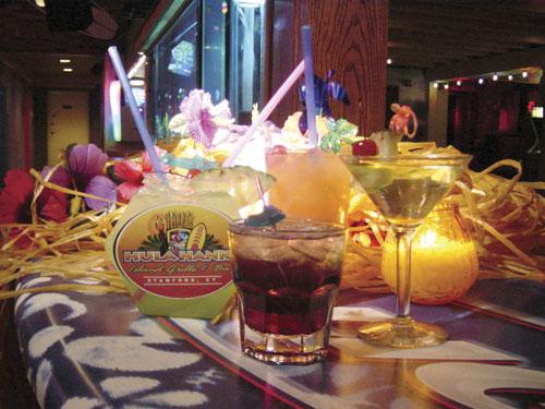 Hula Hank's branded fishbowl