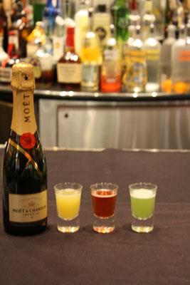 Boom Boom Champagne Shots