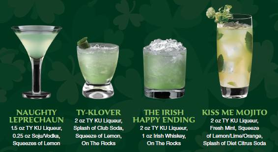 TY KU Irish cocktails