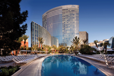 Aria resort casino pool