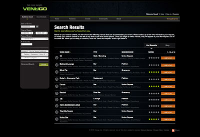 Venugo search