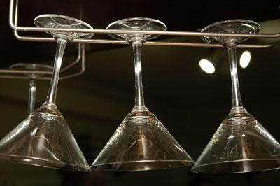 Hanging glasses