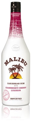 Malibu Cranberry-cherry bottle