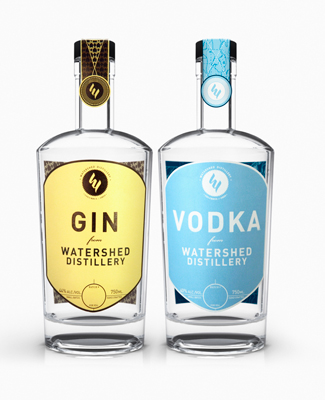 Watershed Gin and Vodka