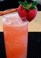 Strawberry Cinnamon Whiskey Sour