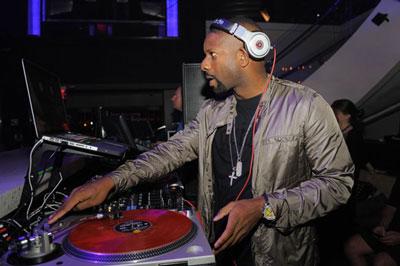DJ Irie spins