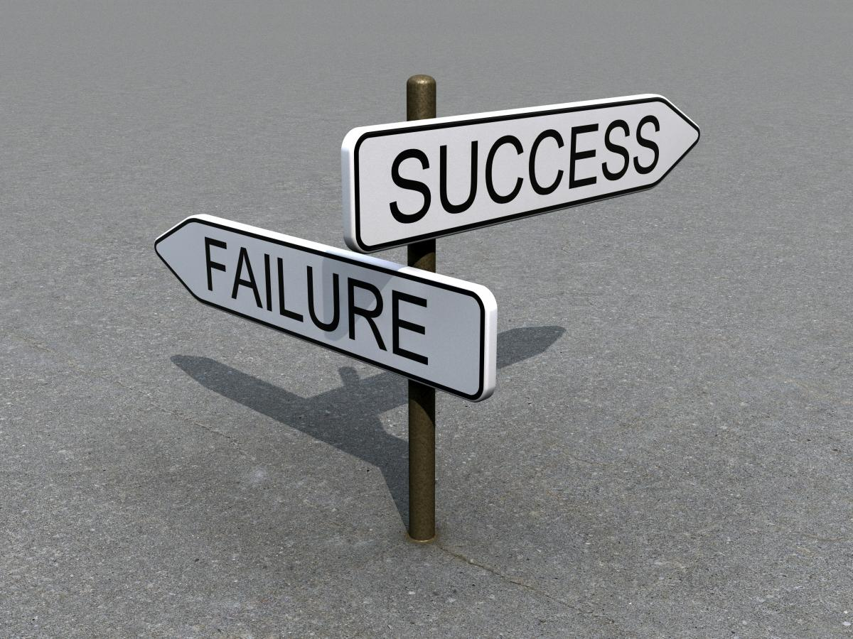 Success or Failure Sign