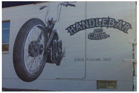 Handlebar and Grill Mural
