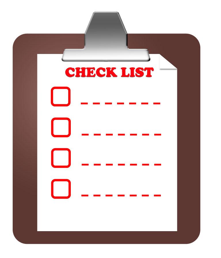 inventory check list