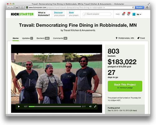 Kickstarter fpr Travail