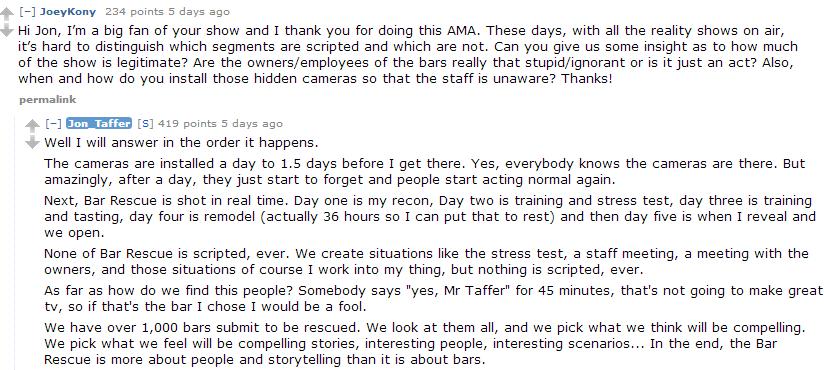Jon Taffer AMA Reddit