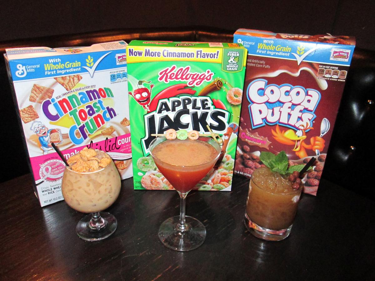 Cereal Infused Cocktails