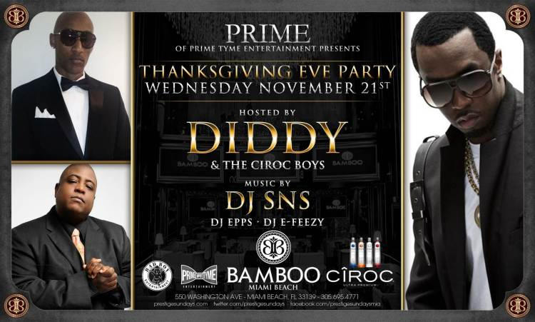 Diddy Thanksgiving at Bamboo