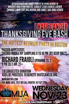 I Hate Cancer Thanksgiving Eve Bash