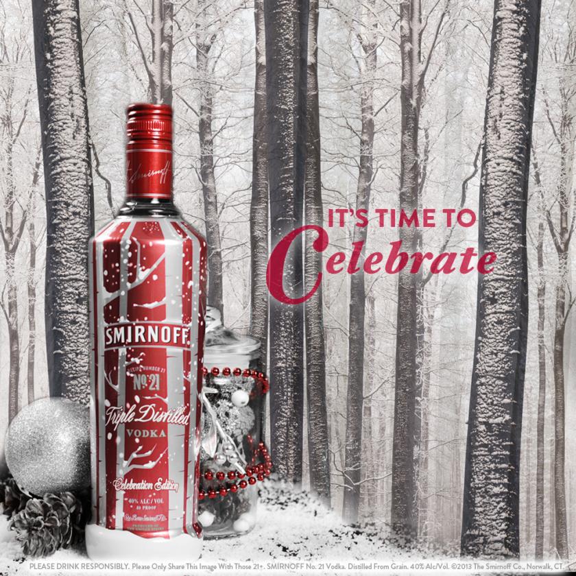 Holiday Smirnoff Bottle