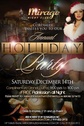 Mirage Holiday Party