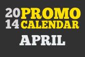 April Promo Calendar