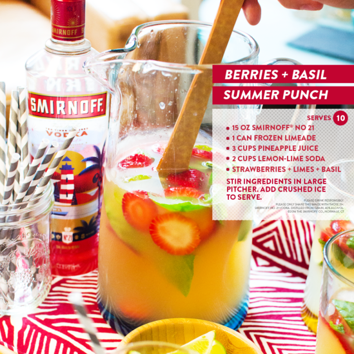 American Summer Punch by Smirnoff