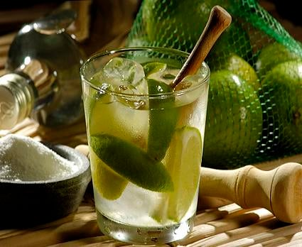 Classic Caipirinha Cocktail from Brazil