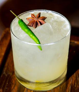 Pineapple Serrano Margarita with Herradura Silver