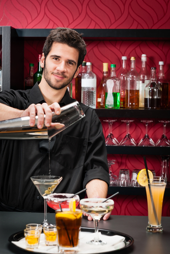 Successful high performing bartender