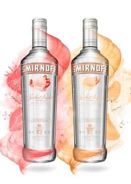 Smirnoff Sorbet Light Summer Strawberry and White Peach