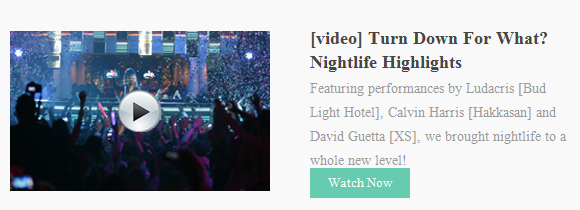 Featuring performances by Ludacris, Calvin Harris and David Guetta, we brought nightlife to a whole new level!