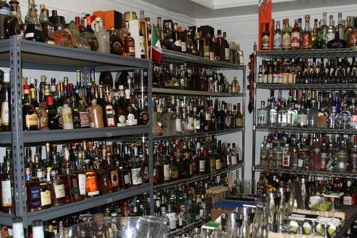 Liquor Storage at a Bar