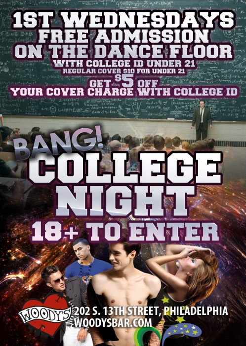 Woody's College Night LGBT Promotion