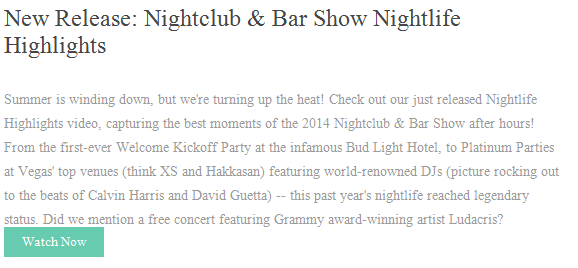 New Release: Nightclub & bar Show Nightlife Highlights