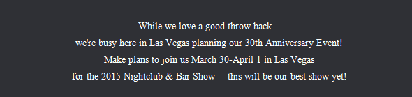 Nightclub & Bar Show in Las Vegas