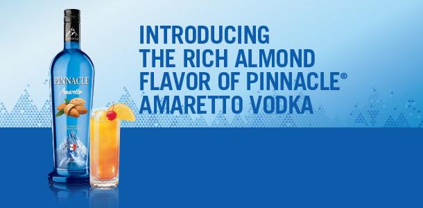 Pinnacle Vodka Launches New Amaretto Flavor