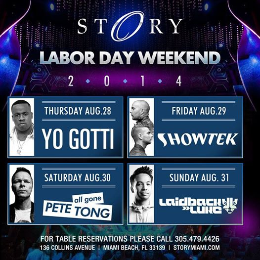 Story Nightclub Labor Day Weekend