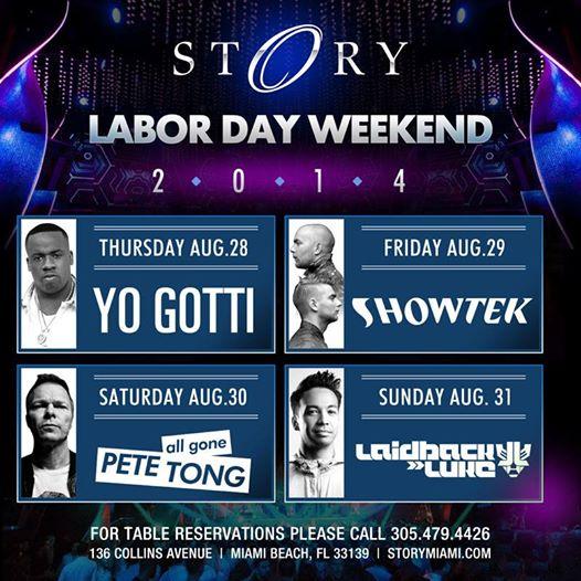 Story Nightclub Labor Day Weekend