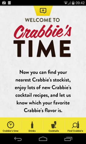 Time For A Crabbie's App