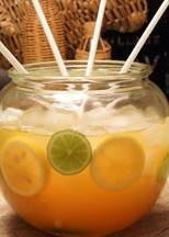 Citrus Ginger punch with Cruzan light