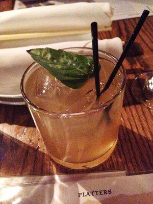 Blue Dragon Thai Basil Cocktail