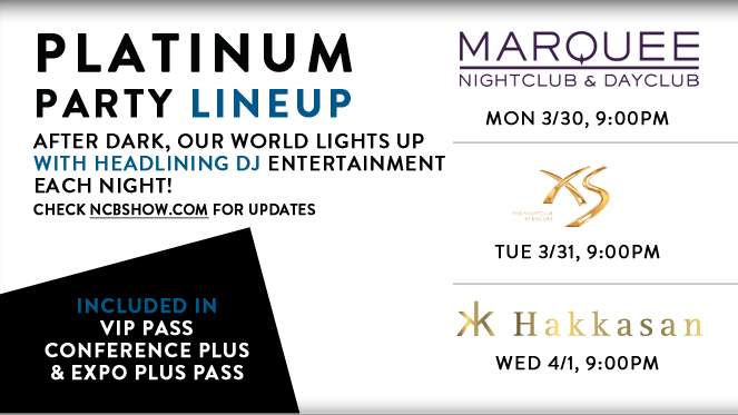 Platinum Party Lineup! After dark, our world lights up with headlining DJ entertainment each night at Marquee, XS Nightclub and Hakkasan.