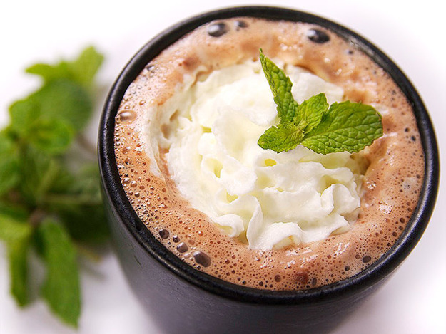 Tequila Mint Hot Chocolate Cocktail