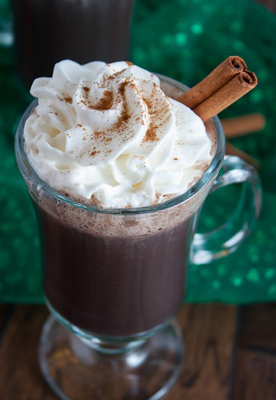 spiked Mexican Hot Chocolate cocktail