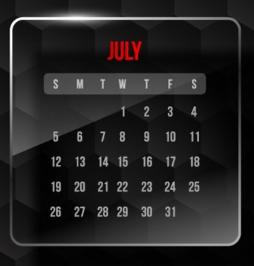 July Promotion & Holiday Calendar