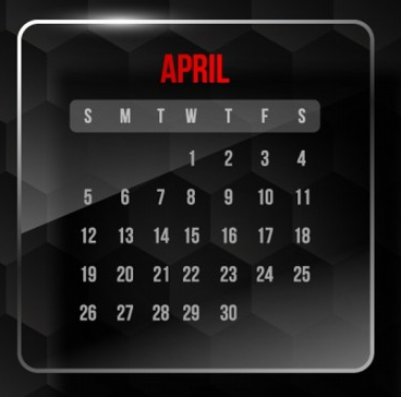 April Promotion & Holiday Calendar