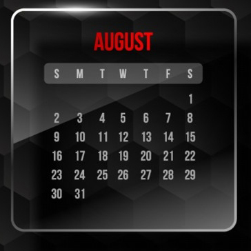 August Promotion & Holiday Calendar