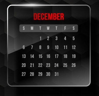 December Promotion & Holiday Calendar