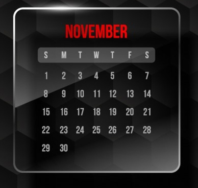 November Promotion & Holiday Calendar