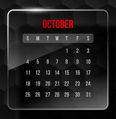 October Promotion & Holiday Calendar