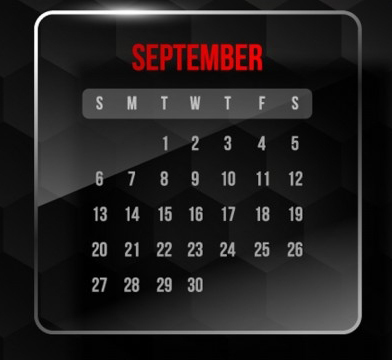 September Promotion & Holiday Calendar